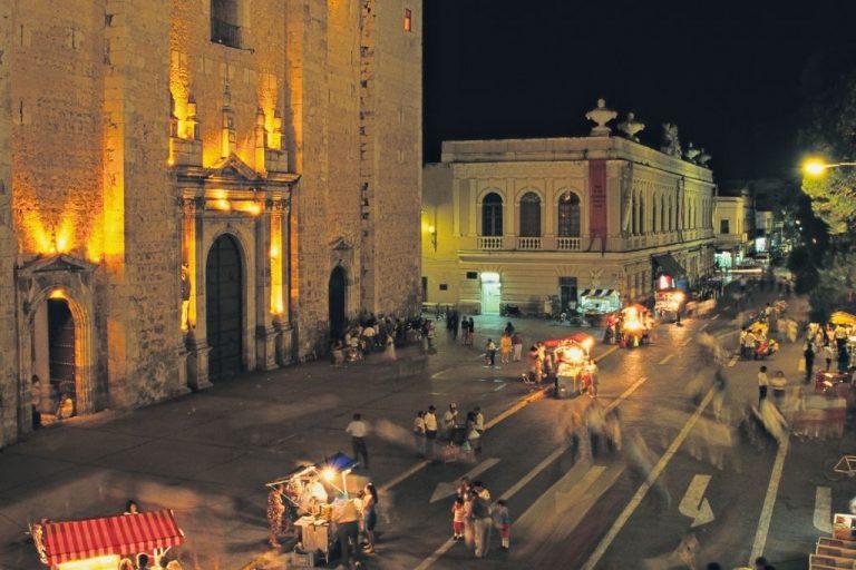 La ciudad blanca en el sureste de México