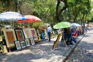 Paseo por la calles al sur de la Ciudad de México