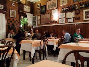 Interior del restaurante Armando Al pantheon
