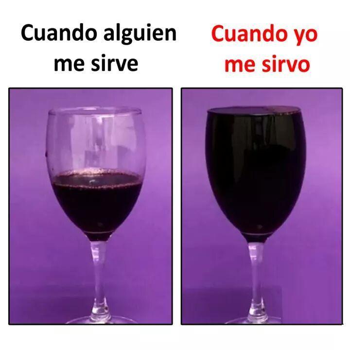 Meme copa de vino llena