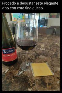 meme cata de vino y queso