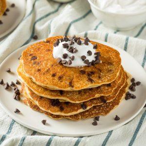 Qué ponerle a los hot cakes: Chispas de chocolate