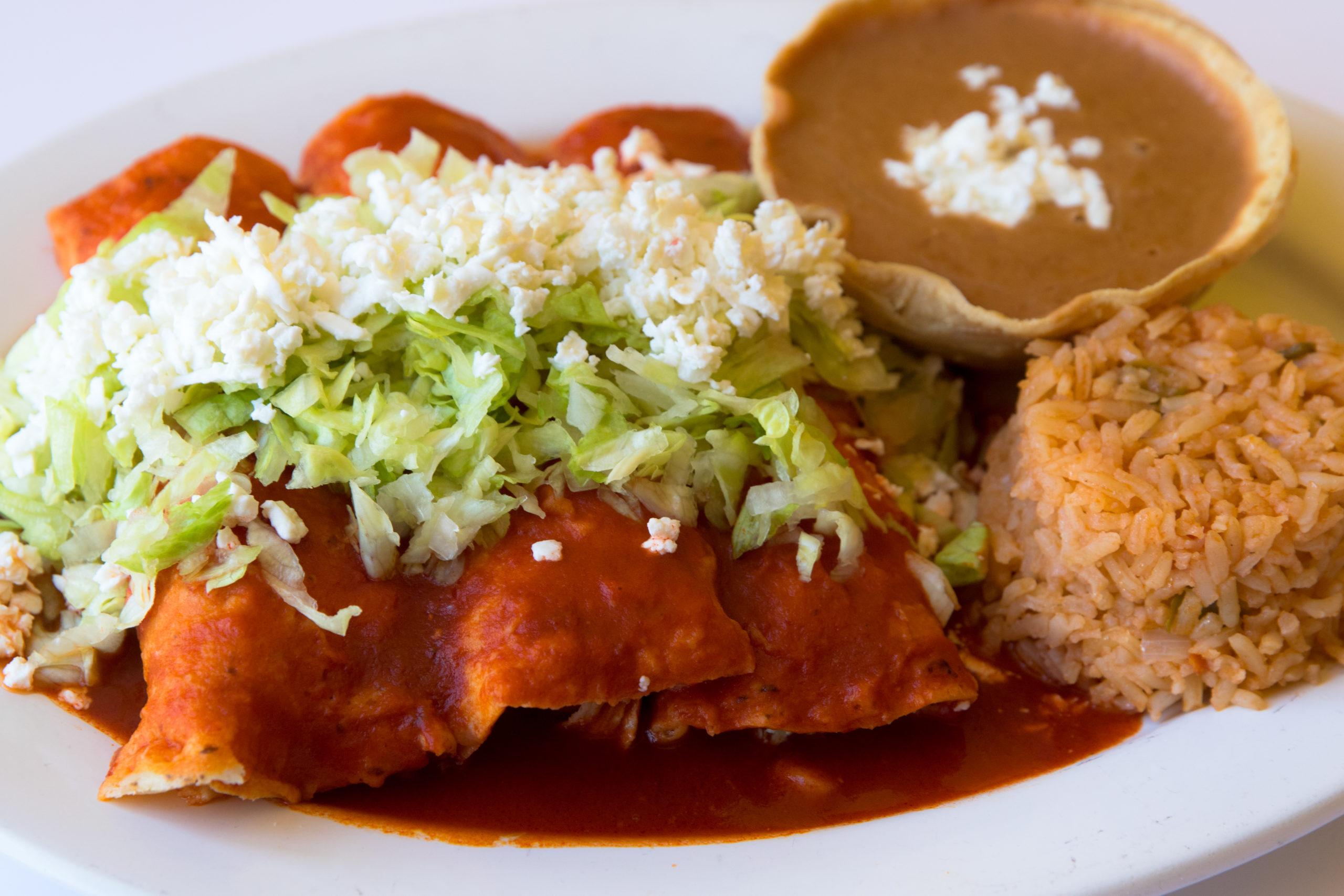 Guarniciones para enchiladas