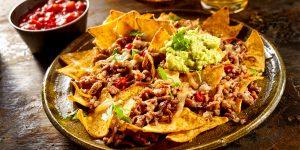 Las comidas Tex-Mex_ nachos