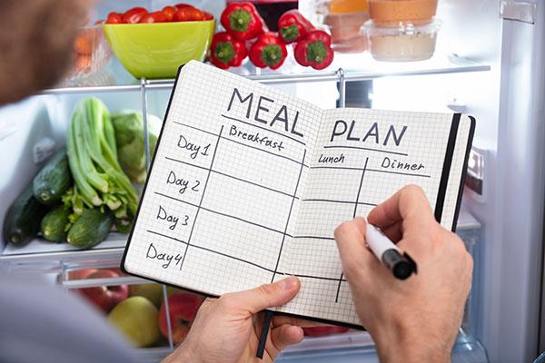 Puedes planificar tus comidas en una agenda