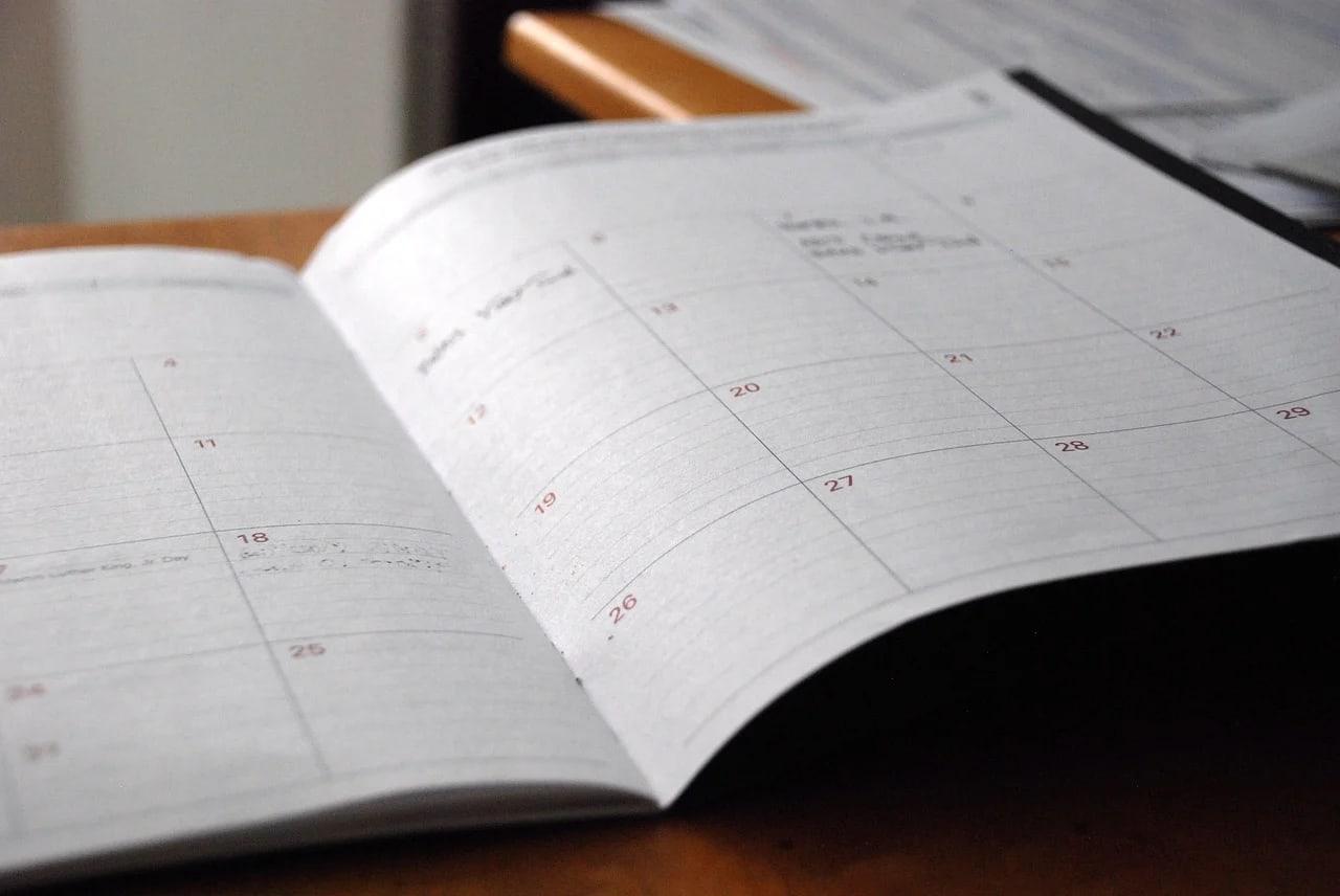 Organiza el día en una agenda