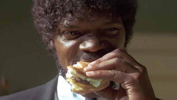 pulp fiction hamburguesa _ comida gratis